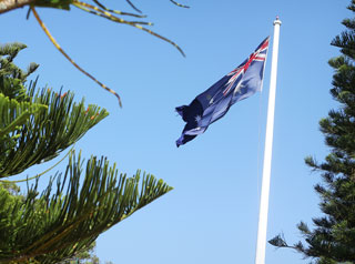 Australian flag - Picnic Point