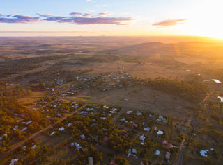 West Toowoomba aerial view