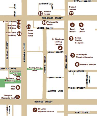 Cultural and legal precinct walk map