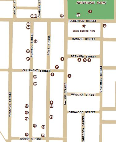Newtown historic walk map