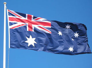 Australian flag at Picnic Point