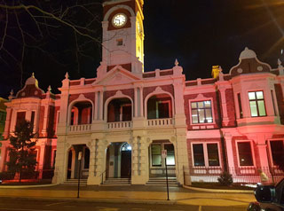 Maroon City Hall for Queensland Day