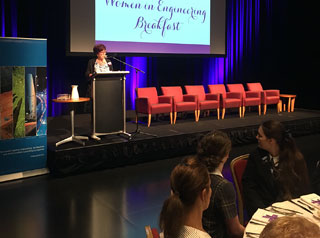Toowoomba's successful and passionate women engineers this morning inspired the next generation of females in Science, Technology, Engineering and Math (STEM) at a Queensland Women's Week breakfast at the Empire Theatre.
