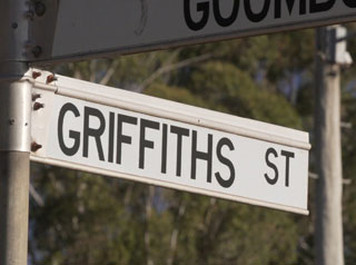 Griffiths Street sign