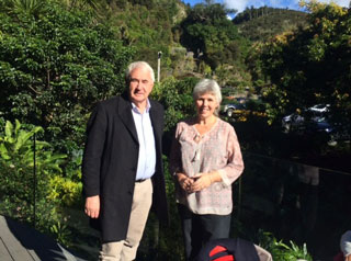 Mayor Antonio meets Whangarei Mayor Sheryl Mai in Whangeri Quarry Gardens