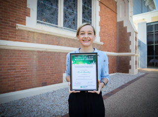 William Groom scholarship recipient 2018 - Sally Pomerenke