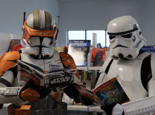 Storm Troopers reading Star Wars books