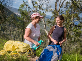 Bushwalkers using Walks and Trails of Toowoomba Region