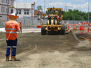 Roadworks in Toowoomba CBD