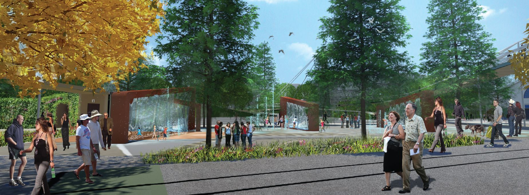 Railway Parklands artists impression
