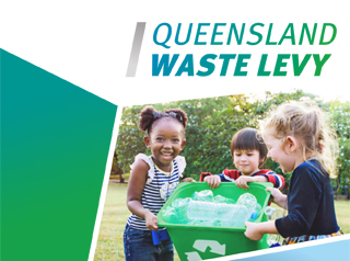 queensland wate levy log kids smiling recycling