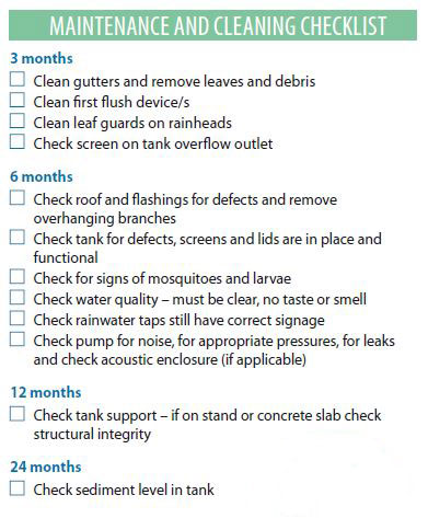 maintenance cleaning checklist