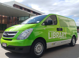 Home library service van