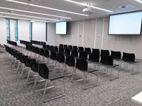 seminar room double theatre style community rooms