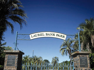 Laurel Bank Park entry gates