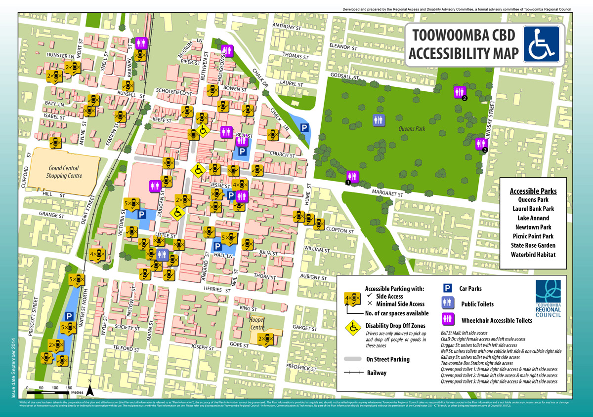 Map Of Toowoomba Toowoomba Region
