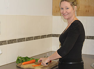Bek preparing veges