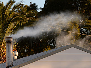 House chimney smoke