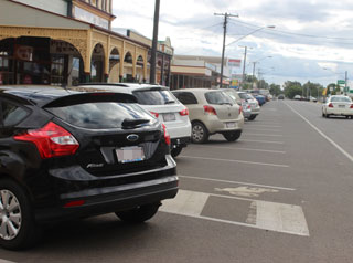 Pittsworth town angle parking