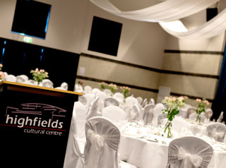 Highfields Cultural Centre wedding configuration